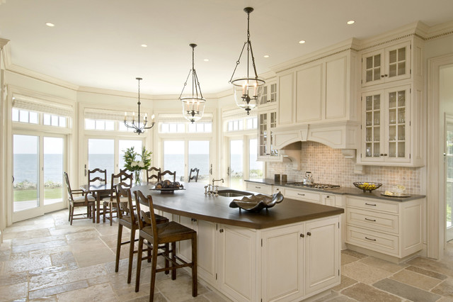 hundi Kitchen Traditional with bay window brown counters