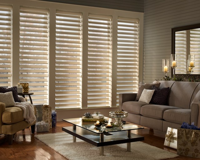 hunter douglas silhouette Living Room Traditional with Hunter Douglas Hunter Douglas