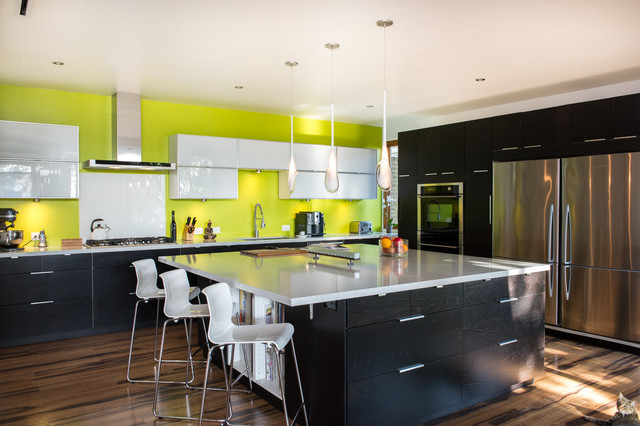 Ikea Barstools Kitchen Contemporary with Bright Green Clean Lines