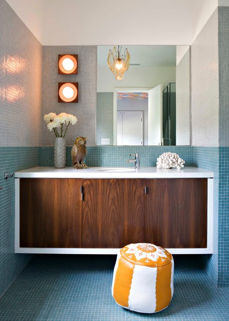 Ikea Bathroom Vanities Bathroom Midcentury with Indoor Outdoor Midcentury Natural Overscaled