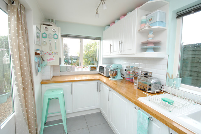Ikea Butcher Block Countertops Kitchen Beach With Cake Stand Cottage