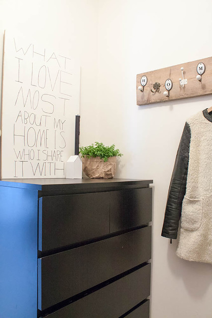 Ikea Coat Rack Entry Scandinavian with Black and White Driftwood5