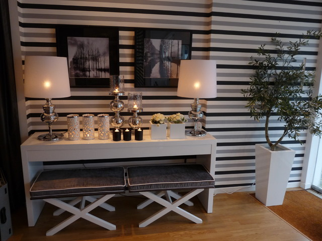 Ikea Console Table Hall Contemporary with Artwork Benches Black Candles