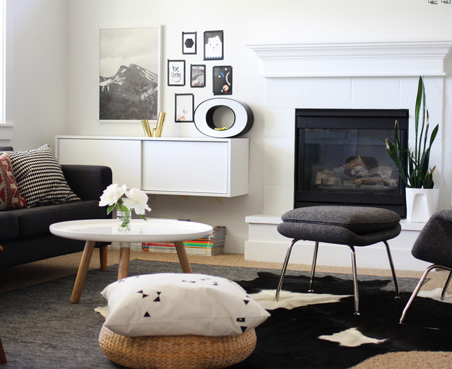 Ikea Cowhide Rug Living Room Scandinavian with Cowhide Rug Fireplace Floating