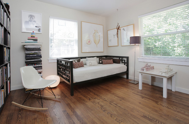 Ikea Daybed Home Office Transitional with Bookshelves Day Bed Decorative