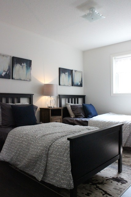 Ikea Duvet Covers Spaces Transitional with Before and After Bedroom4