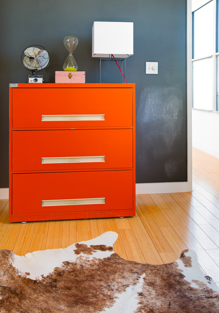 Ikea Filing Cabinet Home Office Eclectic with Chalk Paint Wall Cow2