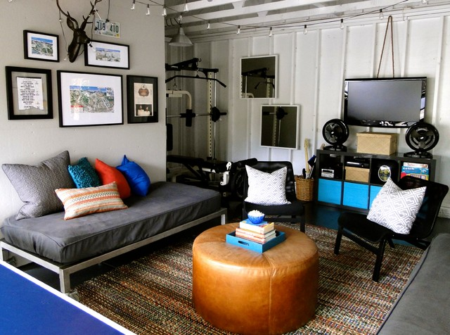 Ikea Futon Living Room Contemporary with Deer Head Framed Art