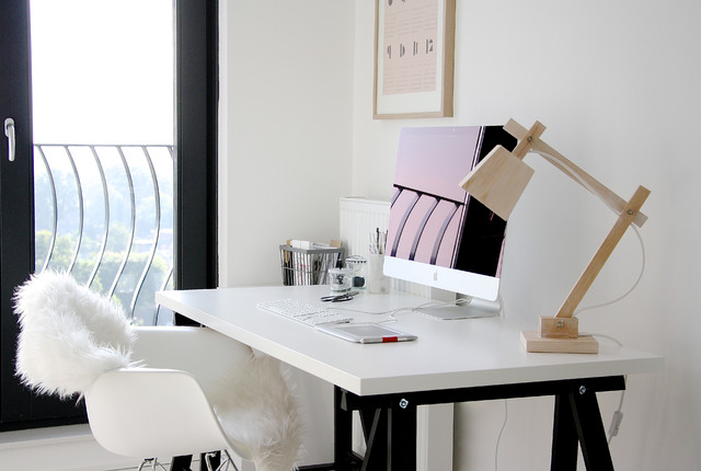 Ikea Lamp Shades Home Office Scandinavian with Computer Desk