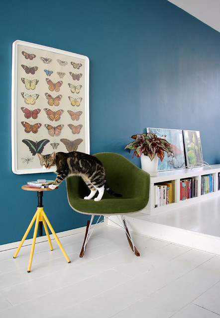 Ikea Metal Bed Frame Living Room Scandinavian with Cat