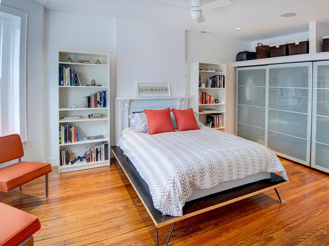 Ikea Pax Bedroom Contemporary with Baskets Bedding Bookshelves Ceiling