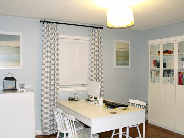Ikea Rast Home Office Contemporary with Behr Light French Grey