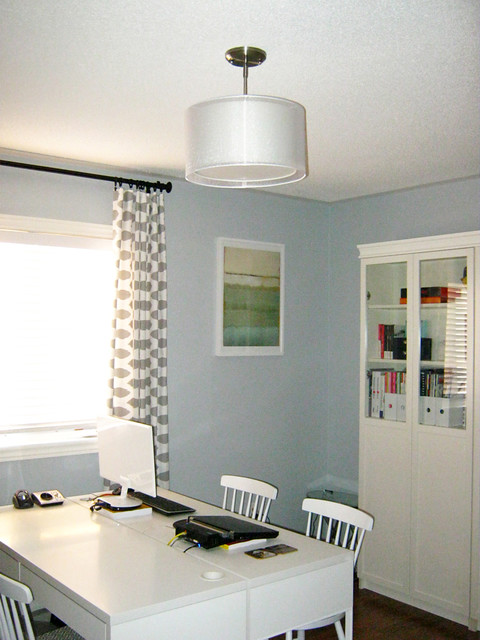 Ikea Rast Home Office Contemporary with Behr Light French Grey1