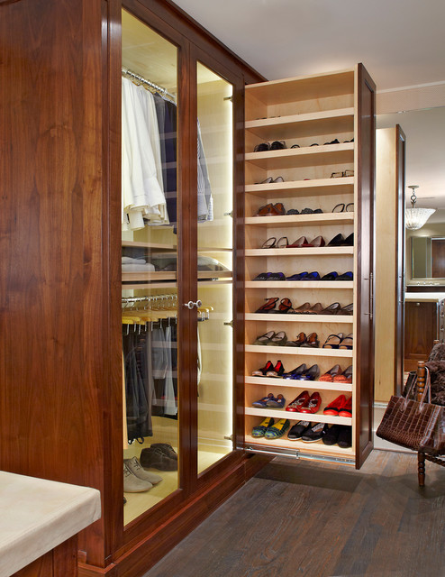 ikea shoe storage Closet Traditional with Concealed custom pull out