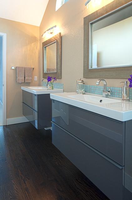Ikea Vanities Bathroom Contemporary with Benjamin Moore Shaker Beige
