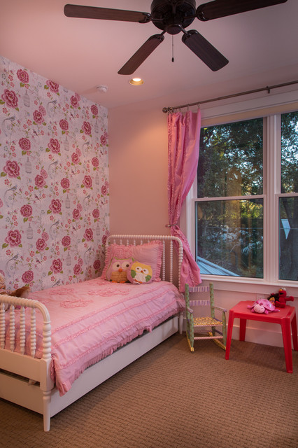 Jenny Lind Twin Bed Kids Eclectic with Accent Wall Bedroom Curtains