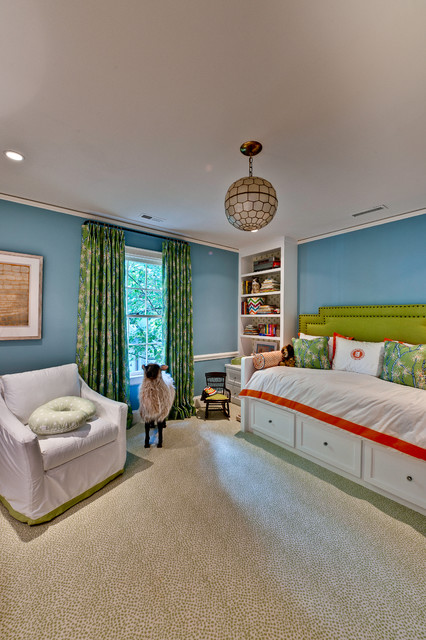 Jeremiah Lighting Kids Eclectic with Bedroom Blue Bookcase Bright