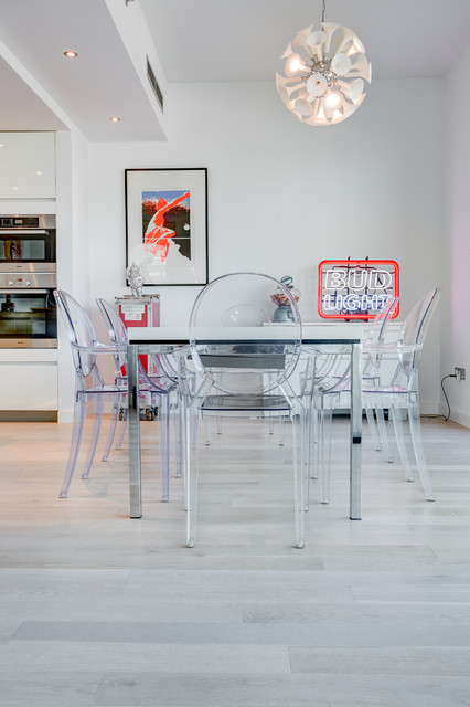 Kahrs Flooring Dining Room Contemporary with Bud Light Clear Chair