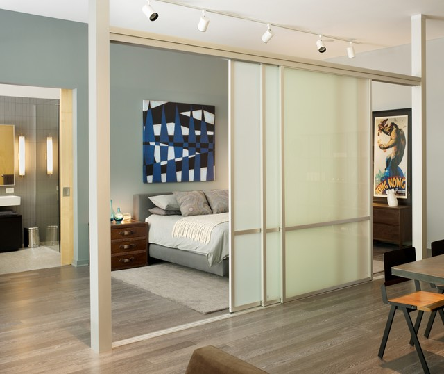Kahrs Flooring Hall Modern with Accent Wall Frosted Glass