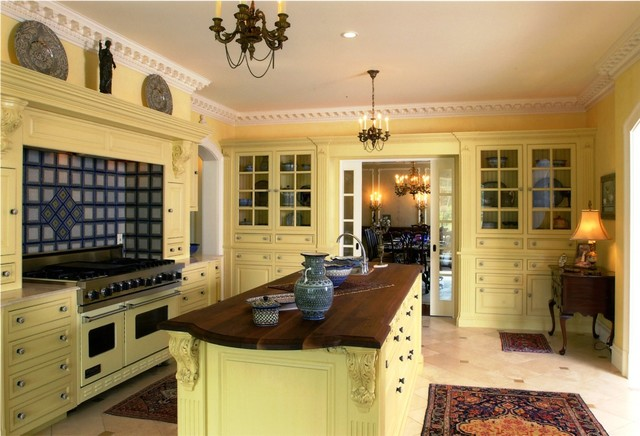 Kemper Cabinets Kitchen Traditional with Beige Arch Beige Archway