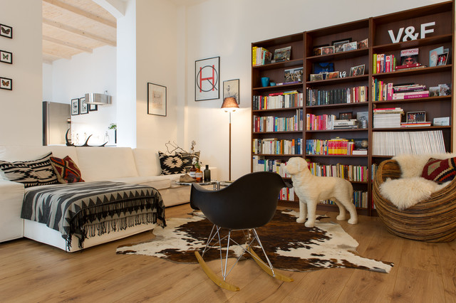 Kilim Pillows Family Room Eclectic with Animal Hide Rug Cow