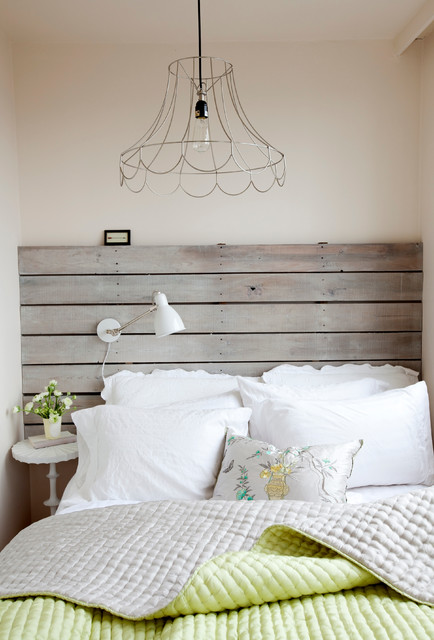 king size bed frame with headboard Bedroom Shabby-chic with bedroom lighting hanging lightbulb