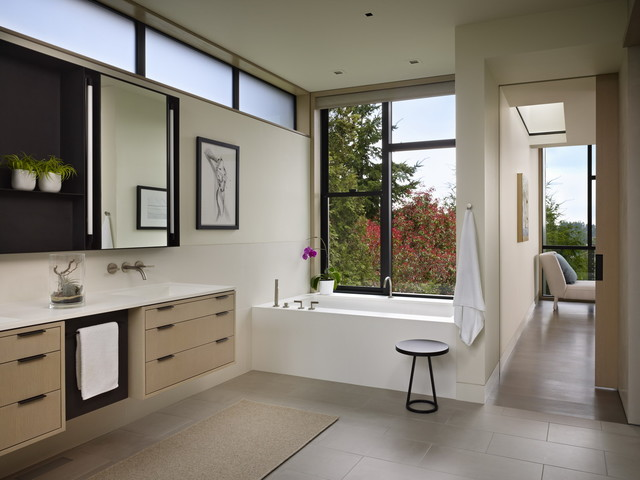 Kohler Archer Bathroom Modern with Bath Tub Bathroom Lighting