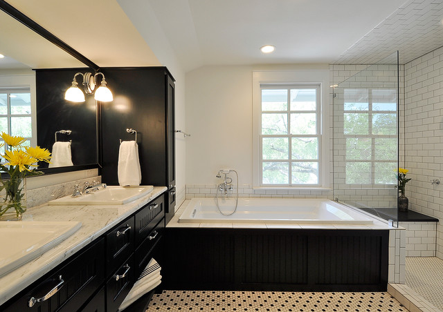 Kohler Archer Bathroom Traditional with Black and White Black
