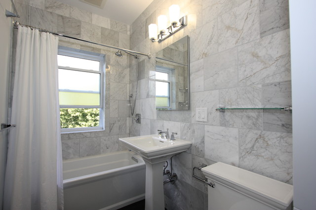 kohler memoirs Bathroom Eclectic with bath tub frosted glass