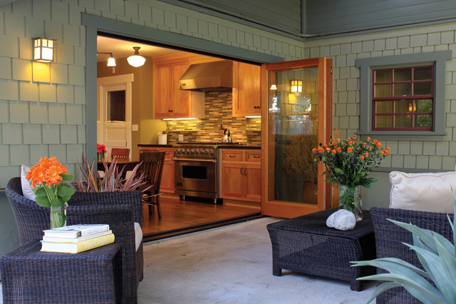 lacantina doors Porch Contemporary with accordion door bi-folding door