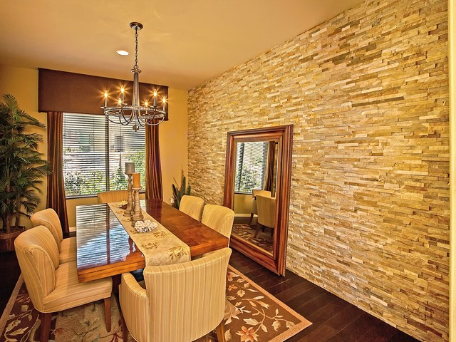 Leaning Floor Mirror Dining Room Traditional with Beige Ceiling Beige Striped