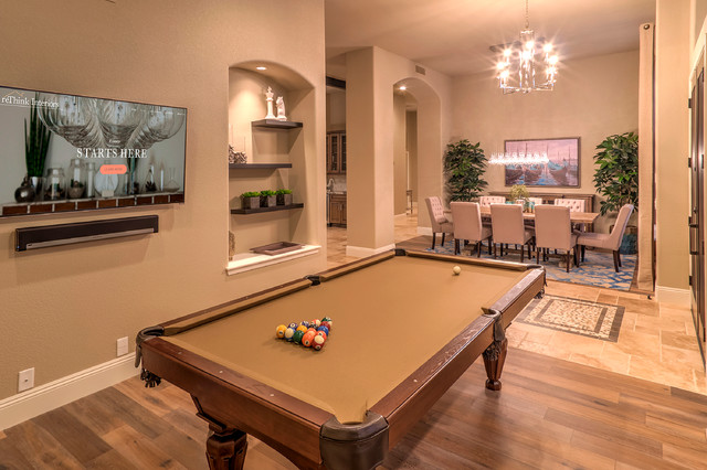 Led Puck Lights Family Room Traditional with Billiards Blue Area Rug