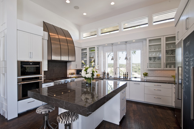 Legacy Cabinets Kitchen Contemporary with Black and White Breakfast