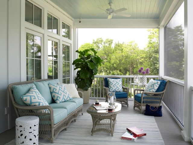 lloyd flanders Porch Beach with alium blue ceiling board