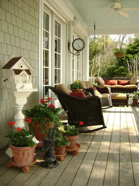 Lloyd Flanders Porch Traditional with Birdhouse Ceiling Fan Cottage
