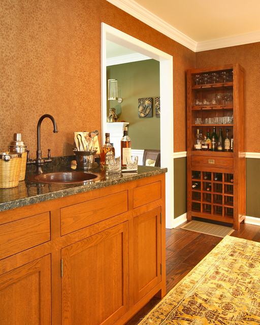 locking liquor cabinet Home Bar Traditional with bar built ins chair