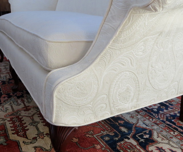 Loveseat Slipcover Spaces Traditional with Exposed Legs Ivory Loveseat5
