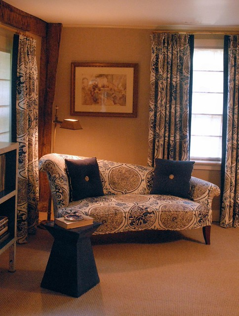 Loveseat with Chaise Bedroom Traditional with Antiques Belgian Shade Blue