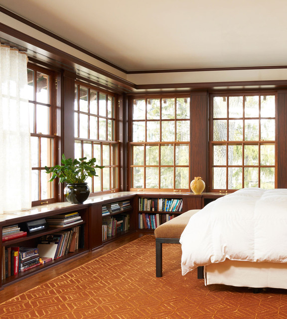 Low Bookcase Bedroom Traditional with Bedroom Bench Dark Wood