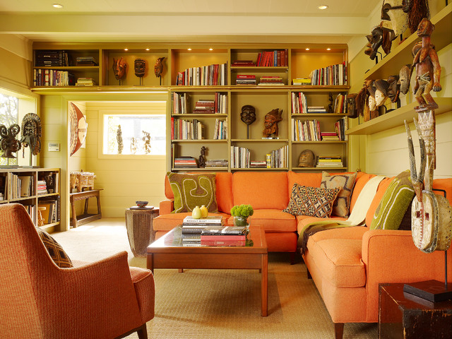 Low Bookcase Living Room Eclectic with Beige Carpet Bookcase Lighting