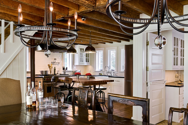 lowes chandeliers Kitchen Farmhouse with built-in cabinets chandelier Chic