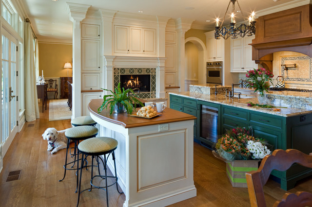 Lowes Granite Countertops Kitchen Traditional with Arched Entry Black Chandelier