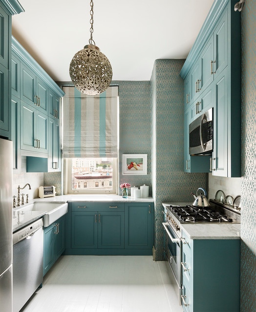 Lowes Hattiesburg Ms Kitchen Transitional with Blue and White Striped