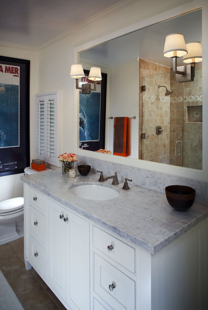 Lowes Vanity Tops Bathroom Traditional with Marble Counter Mirror Sconces