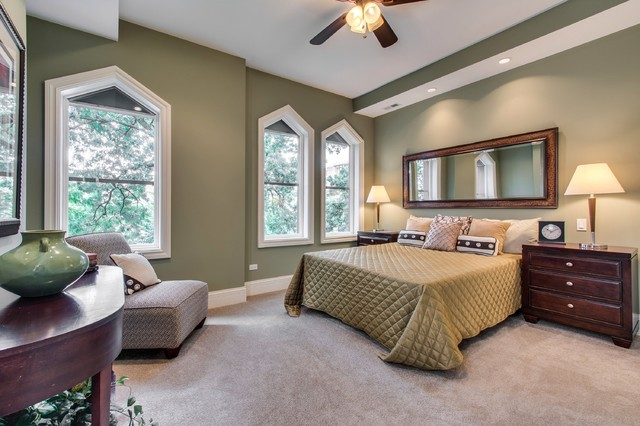 Madison Park Bedding Bedroom Transitional with Ceiling Fan Conical Lampshades