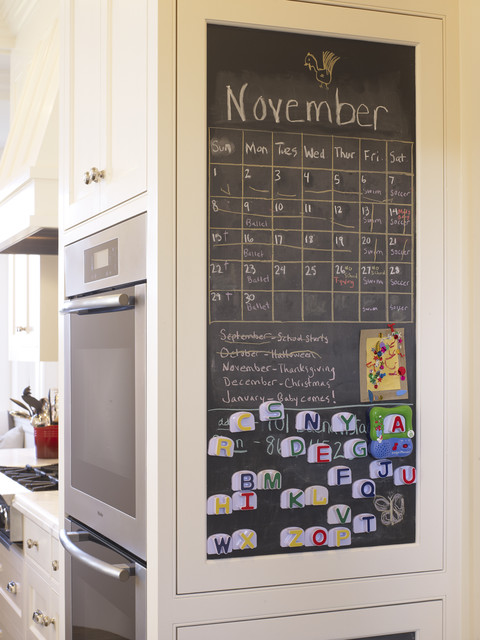 magnetic chalkboard Kitchen Traditional with chalkboard family friendly stainless