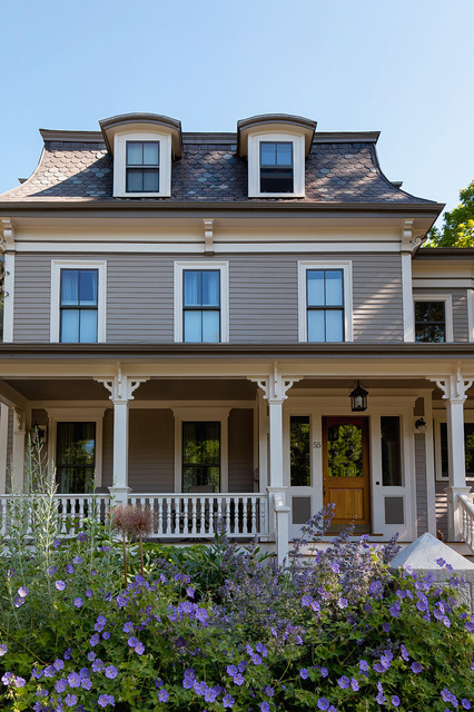 mansard roof Exterior Victorian with corbels curb appeal dormer