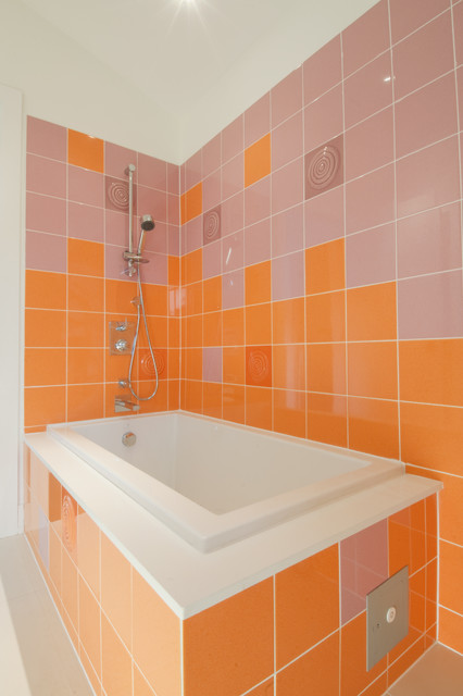 Mapei Grout Colors Bathroom Contemporary with Accent Tiles Bold Colors