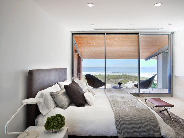masculine bedding Bedroom Beach with architecture beach beach house