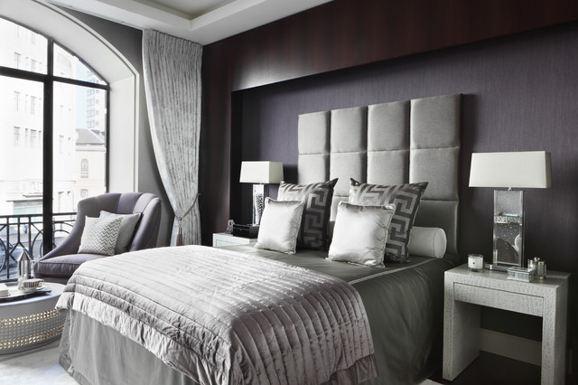 Masculine Bedding Bedroom Contemporary with Bedroom Sitting Area Black